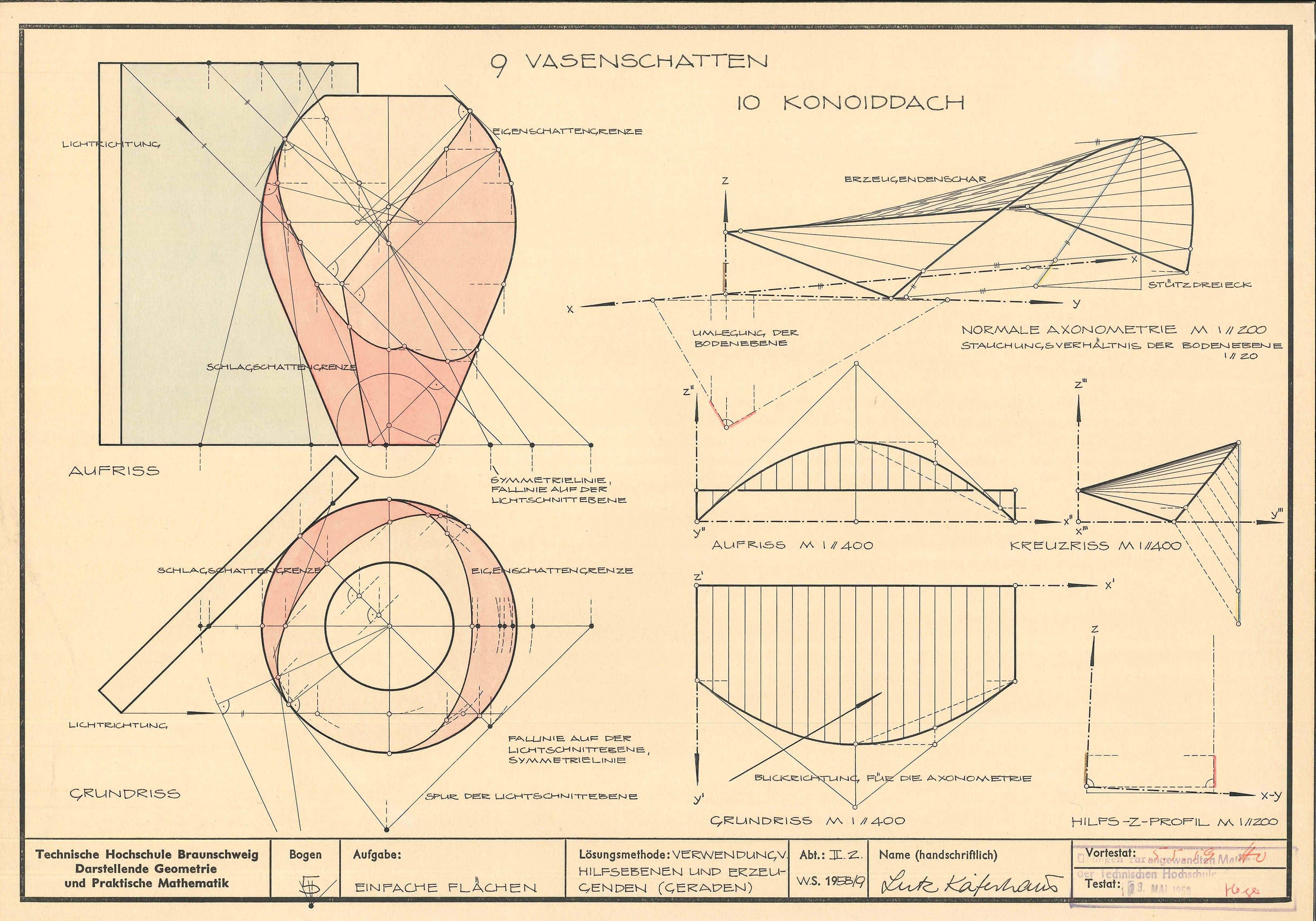 Kaeferhaus Lutz Darstellende Geometrie 1959