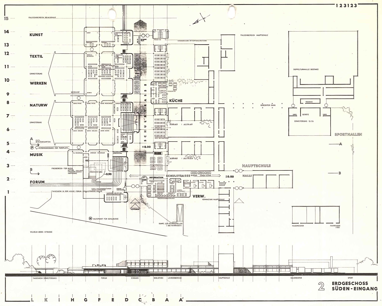 PSP Koenigslutter Schulzentrum Zeichnungen Wettbewerb 1971