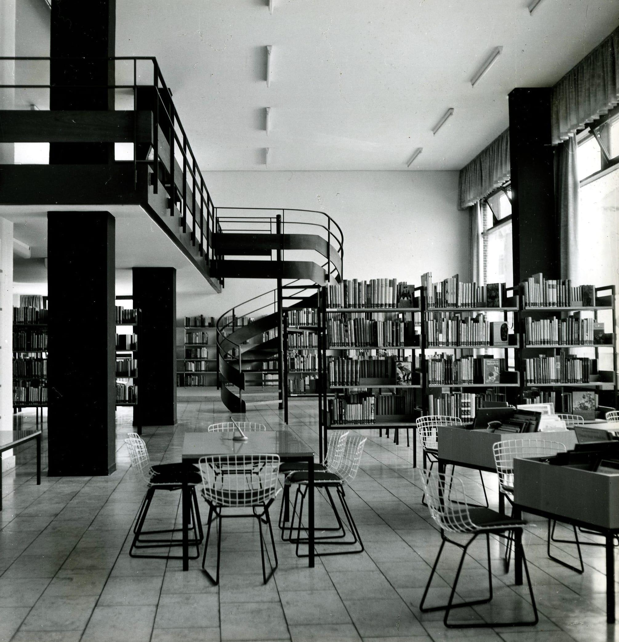 Justus Herrenberger, Öffentliche Bücherei, Braunschweig, 1960, Foto: Justus Herrenberger
