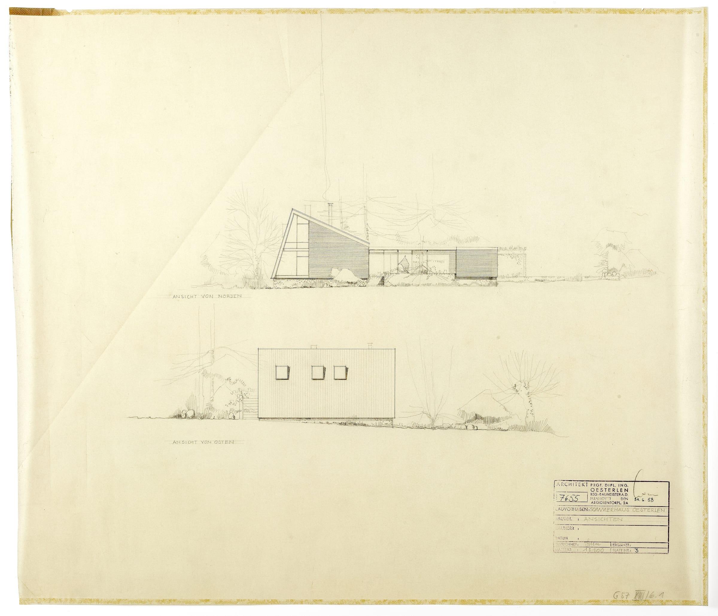 SAIB G57 XIII 6 1 Sommerhaus Oesterlen 1958