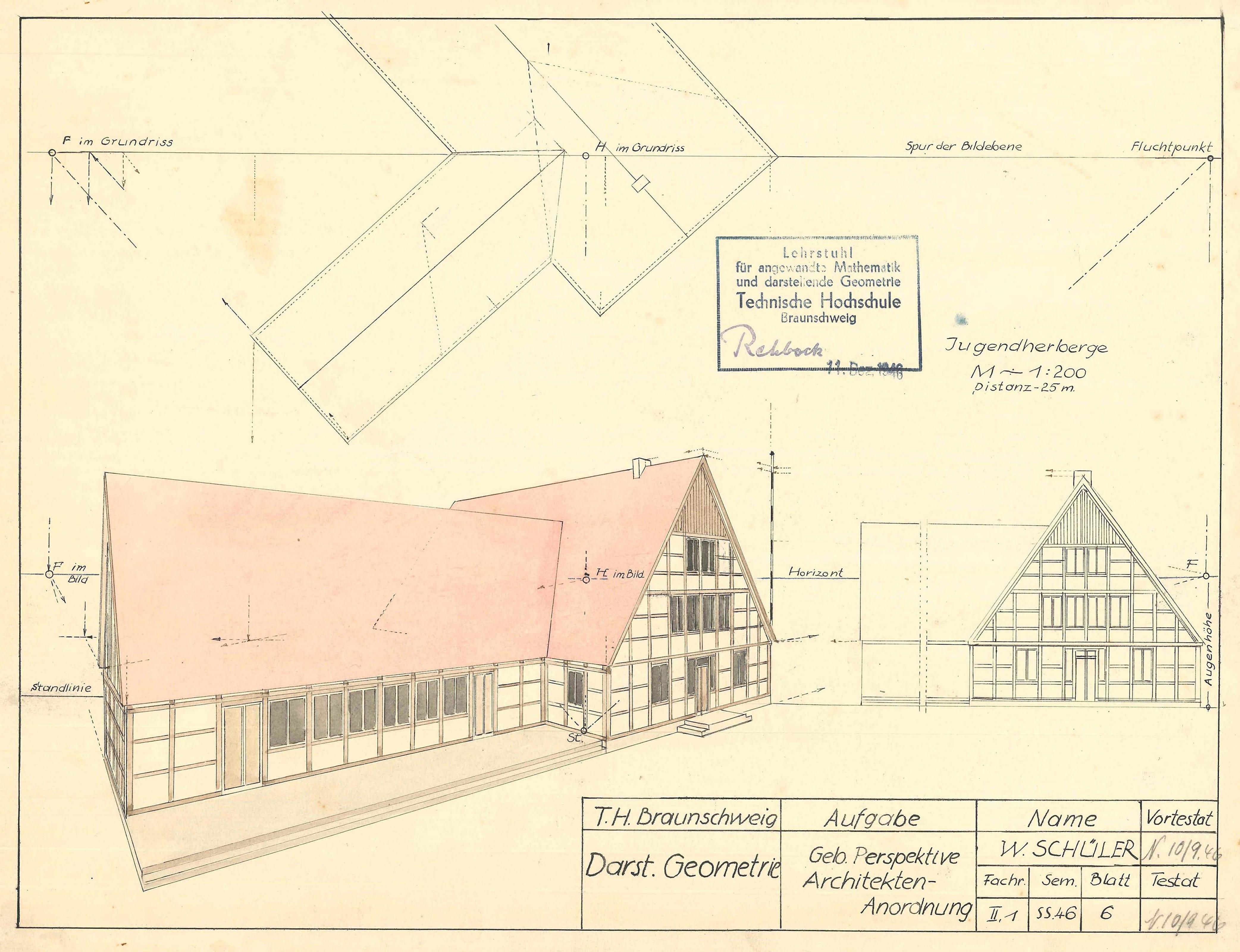 Schueler Willi Ernst Darstellende Geometrie 1946